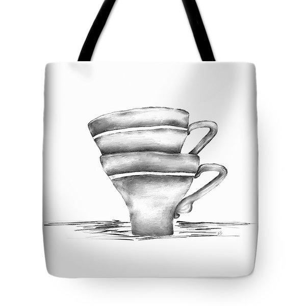 Vintage Cups Tote Bag