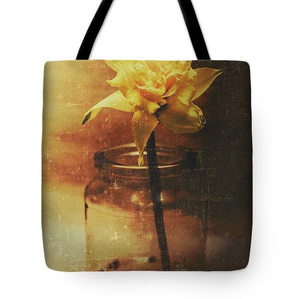 Vintage Daffodil Flower Art Tote Bag