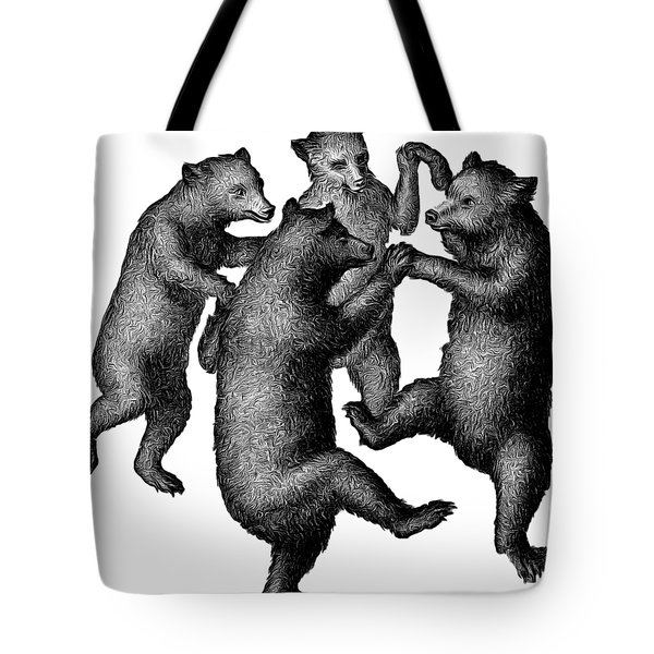 Vintage Dancing Bears Tote Bag