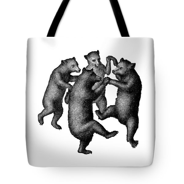Vintage Dancing Bears Tote Bag