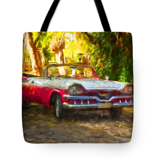 Vintage Dodge Custom Royal 1957 Tote Bag