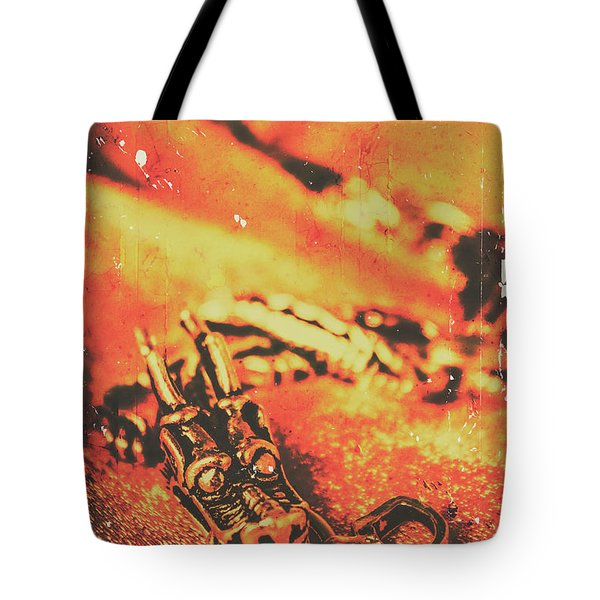 Vintage Dragon Charm Tote Bag