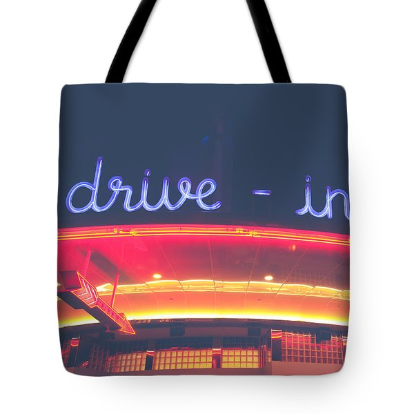 Vintage Drive In Tote Bag
