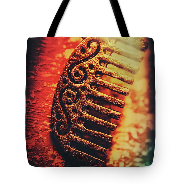 Vintage Egyptian Gold Comb Tote Bag