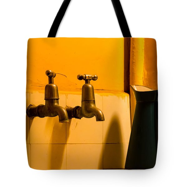 Vintage English Tap Water With Watering Can Tote Bag