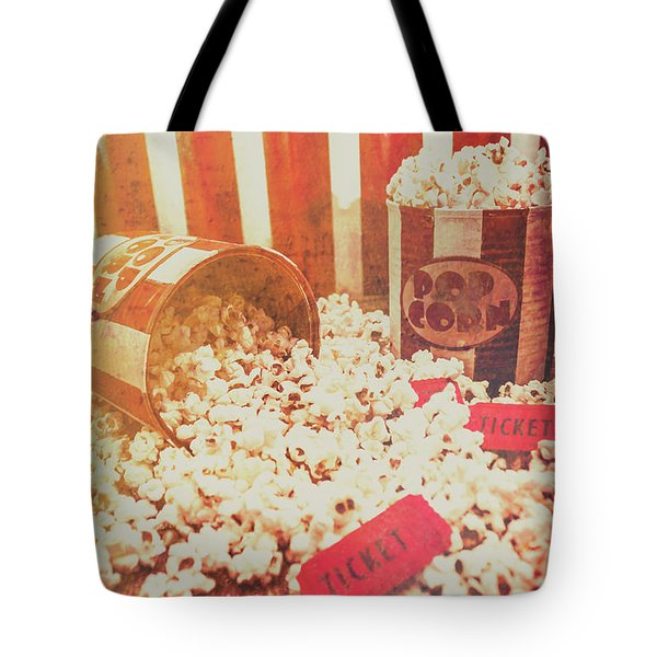 Vintage Entertainment Background Tote Bag