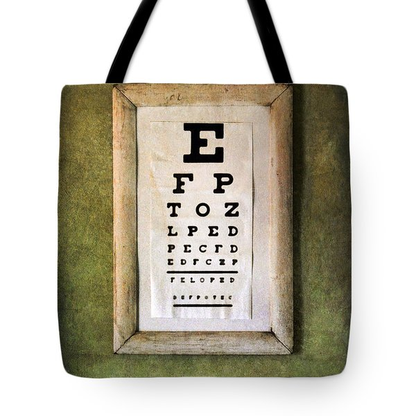 Vintage Eye Chart Tote Bag by Jill Battaglia