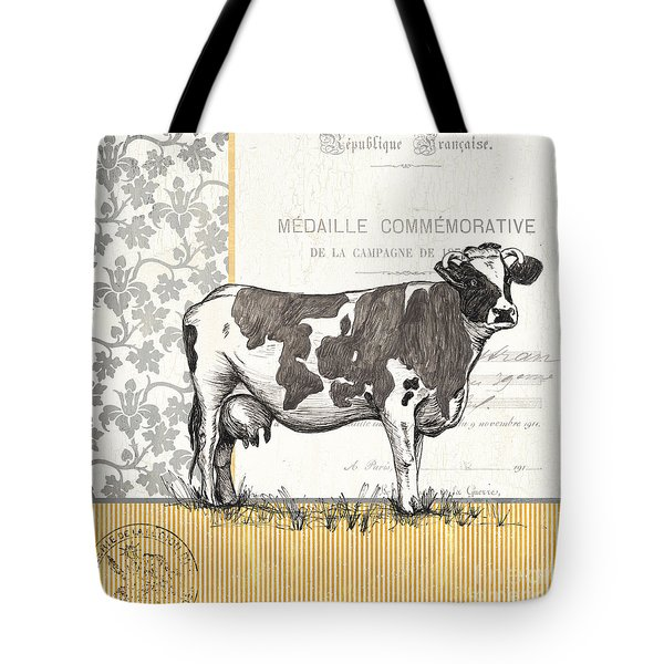 Vintage Farm 4 Tote Bag by Debbie DeWitt