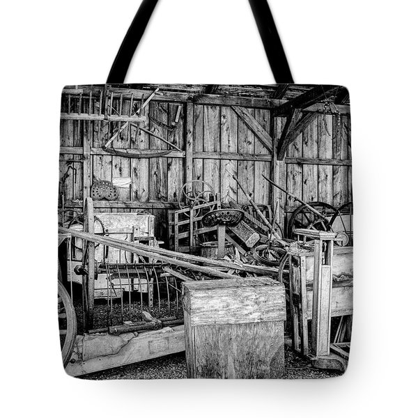 Tote Bag featuring the photograph Vintage Farm Display by Betty Pauwels