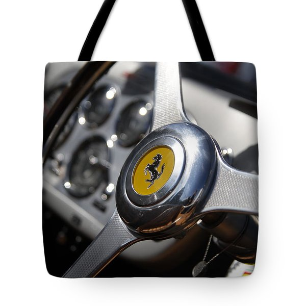Tote Bag featuring the photograph Vintage Ferrari Wheel by Joel Witmeyer