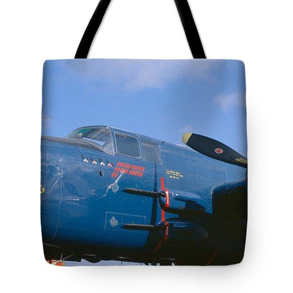 Vintage Fighter Aircraft, Burnet, Texas Tote Bag