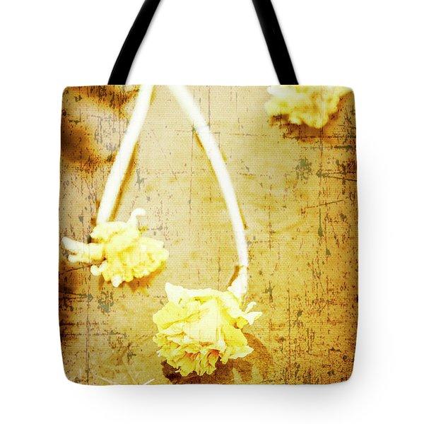Vintage Floating River Flowers Tote Bag
