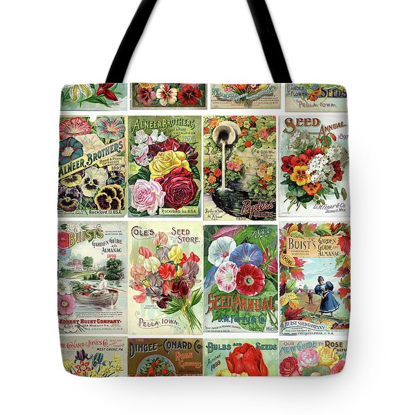 Vintage Flower Seed Packets 1 Tote Bag