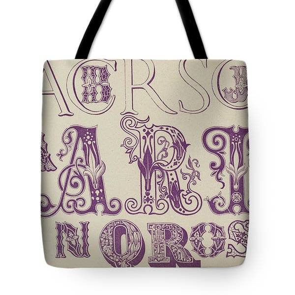 Vintage Fonts    Examples Of Letters  Tote Bag