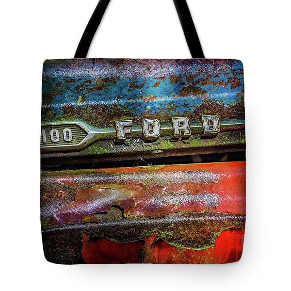 Vintage Ford F100 Tote Bag