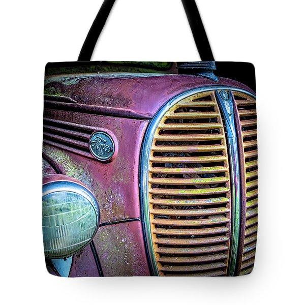 Vintage Ford Firetruck Tote Bag