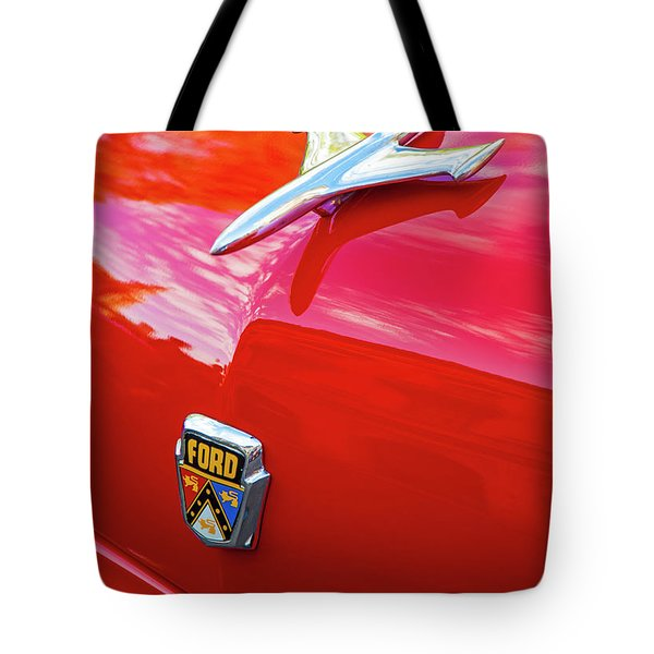 Tote Bag featuring the photograph Vintage Ford Hood Ornament Havana Cuba by Charles Harden