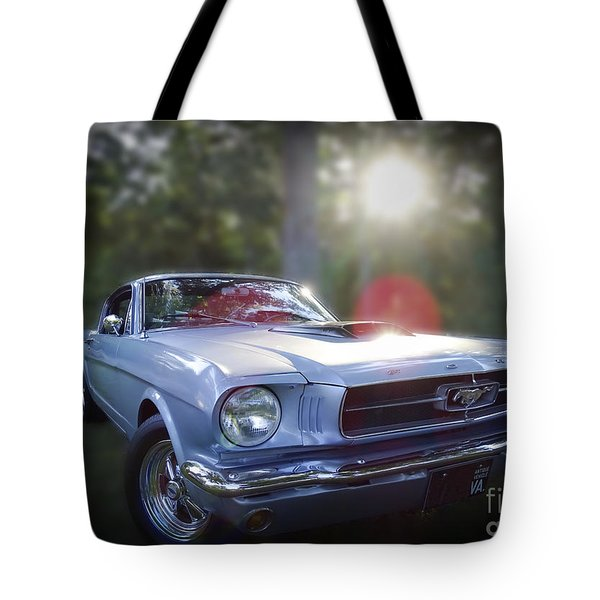 Tote Bag featuring the photograph Vintage Ford Mustang by Melissa Messick