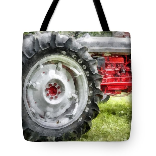 Vintage Ford Tractor Watercolor Tote Bag