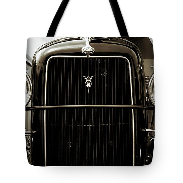 Vintage Ford V8 Tote Bag