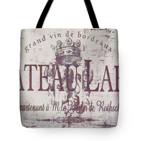 Vintage French Wine Sign Tote Bag