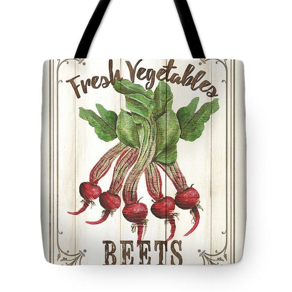 Tote Bag featuring the painting Vintage Fresh Vegetables 1 by Debbie DeWitt