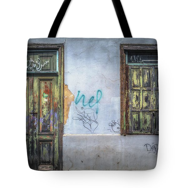 Vintage Frontages Of Tenerife No 1 Tote Bag