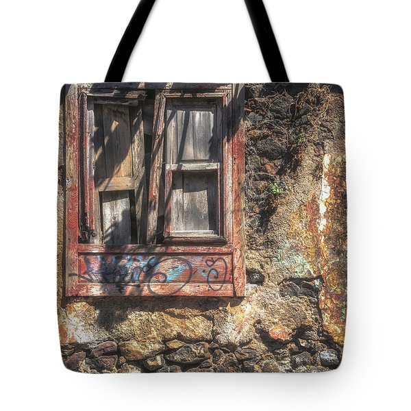 Vintage Frontages Of Tenerife No 2 Tote Bag