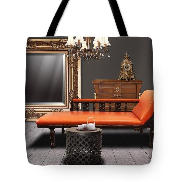 Vintage Furnitures Tote Bag by Atiketta Sangasaeng