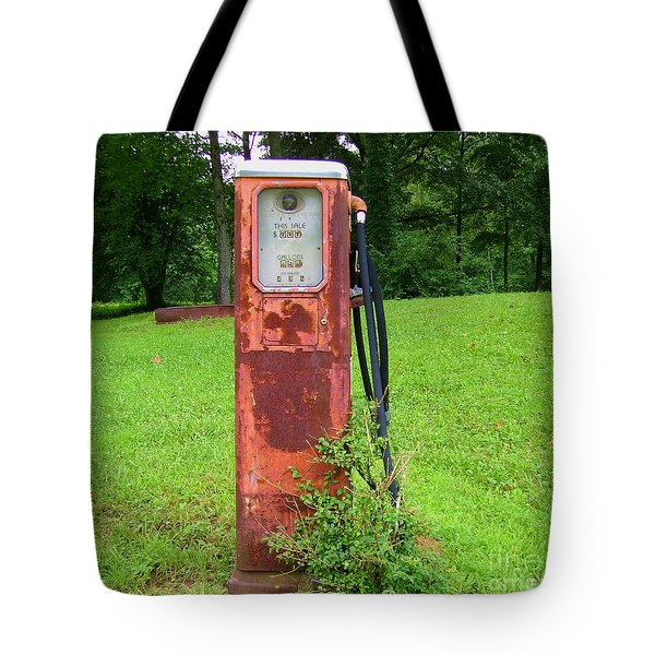 Vintage Gas Pump Tote Bag