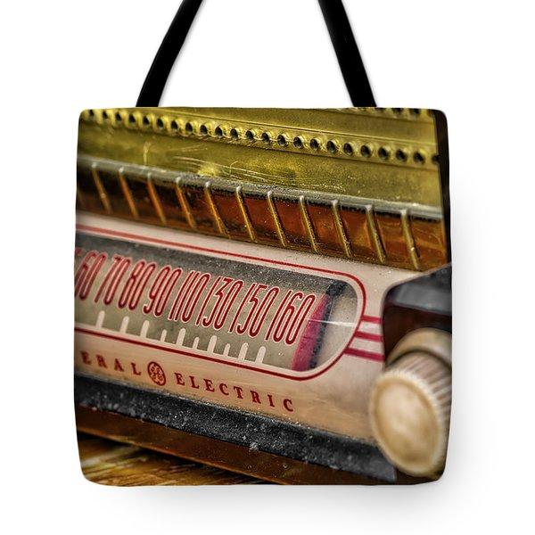 Vintage G.e. Radio Tote Bag