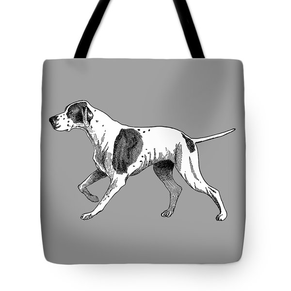 Vintage German Shorthaired Pointer Tote Bag by Marian Cates