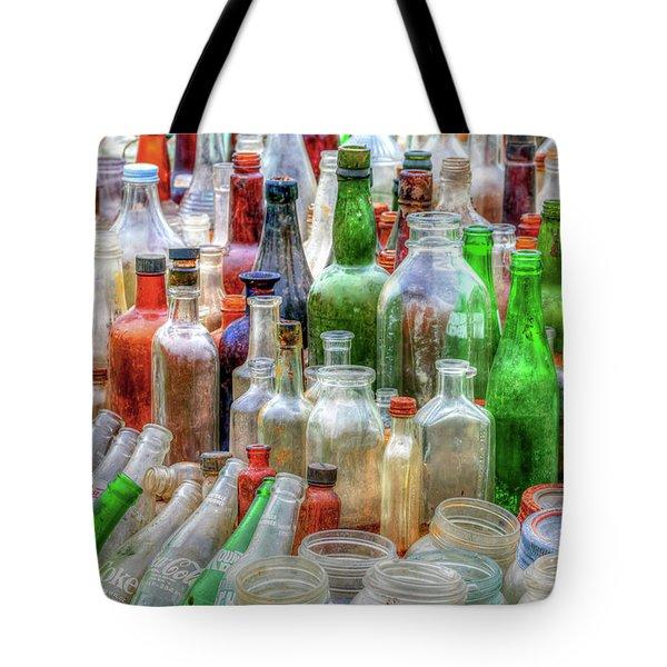 Vintage Glass Tote Bag