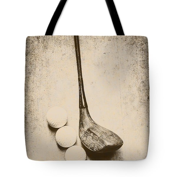 Vintage Golf Artwork Tote Bag