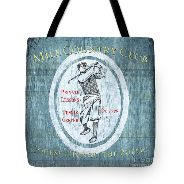Vintage Golf Blue 2 Tote Bag