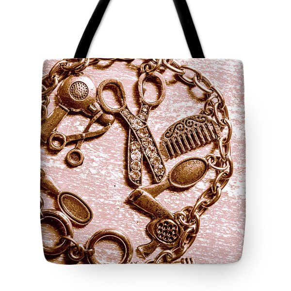 Vintage Hairdressing Charm Tote Bag