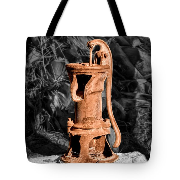 Vintage Hand Water Pump Tote Bag