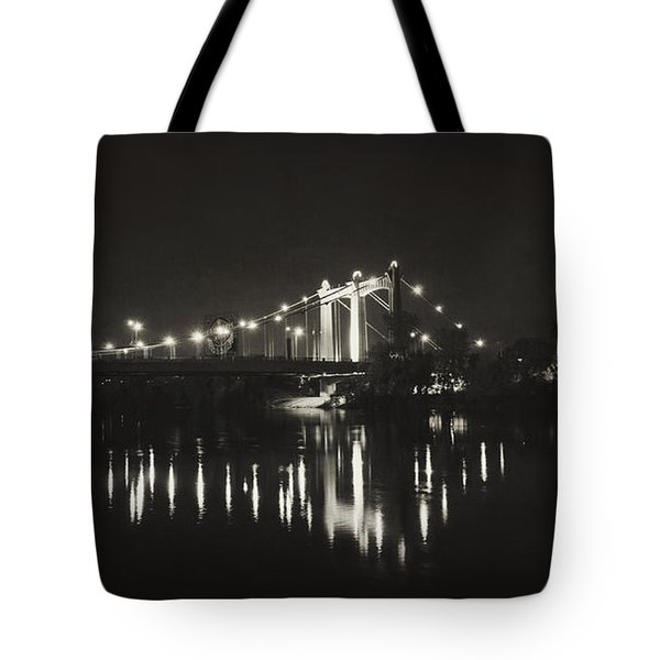 Vintage Hennepin Bridge Tote Bag