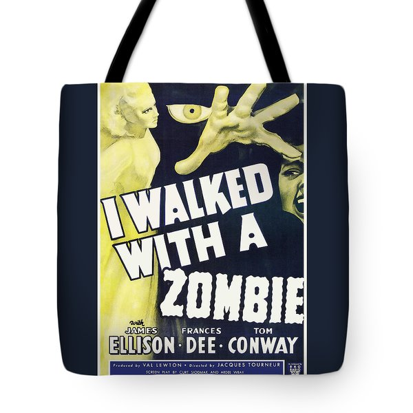 Vintage I Walked With A Zombie 1950 Poster Tote Bag