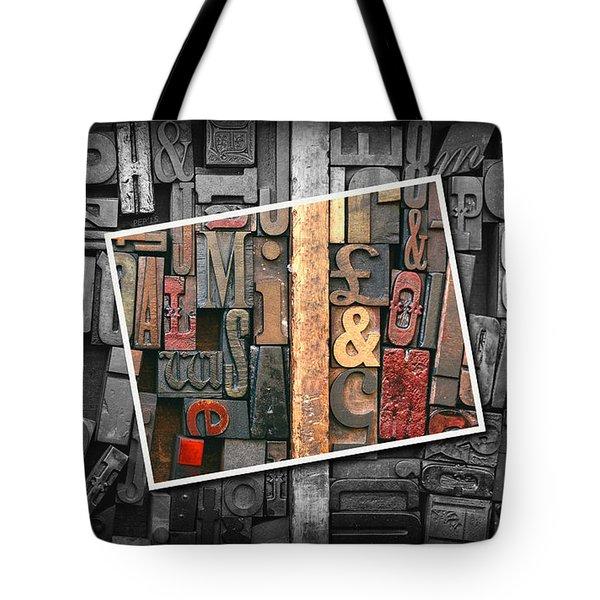 Vintage Inked Typeface Tote Bag