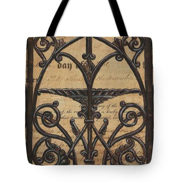 Vintage Iron Scroll Gate 1 Tote Bag by Debbie DeWitt