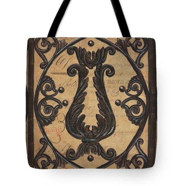 Vintage Iron Scroll Gate 2 Tote Bag by Debbie DeWitt