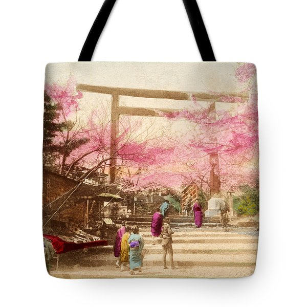 Vintage Japanese Art 25 Tote Bag by Hawaiian Legacy Archive - Printscapes
