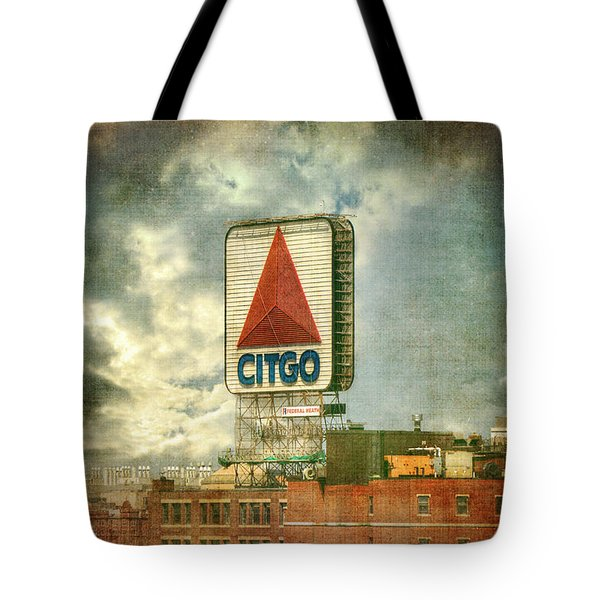 Vintage Kenmore Square Citgo Sign - Boston Red Sox Tote Bag