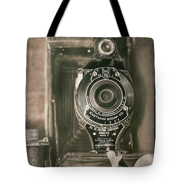 Tote Bag featuring the photograph Vintage Kodak Camera by Teresa Wilson