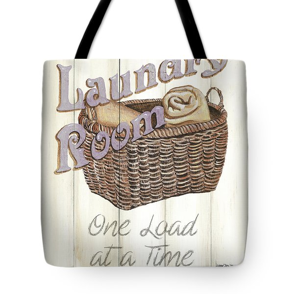 Tote Bag featuring the painting Vintage Laundry Room 2 by Debbie DeWitt