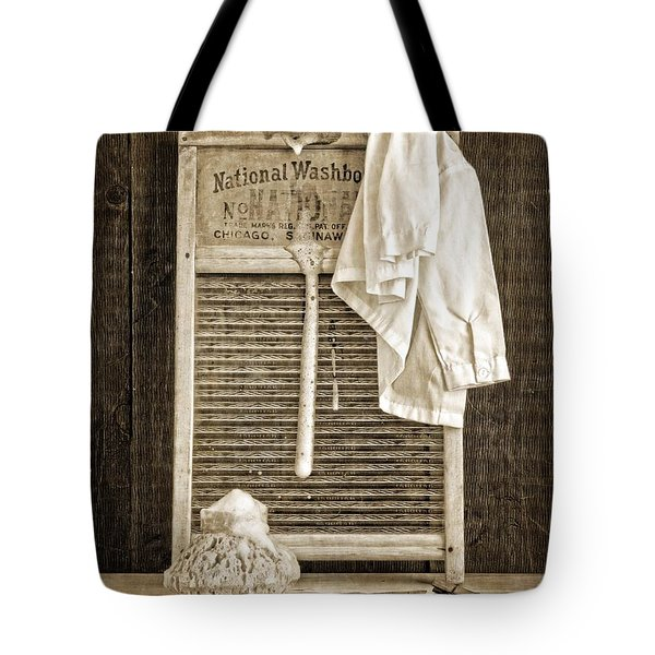 Vintage Laundry Room Tote Bag by Edward Fielding
