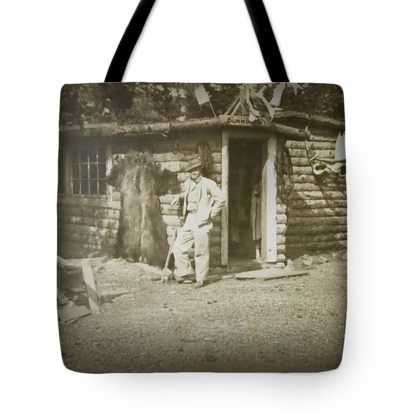Tote Bag featuring the photograph Vintage Log Cabin by Linda Phelps
