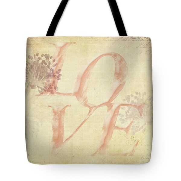 Vintage Love Tote Bag by Caitlyn Grasso