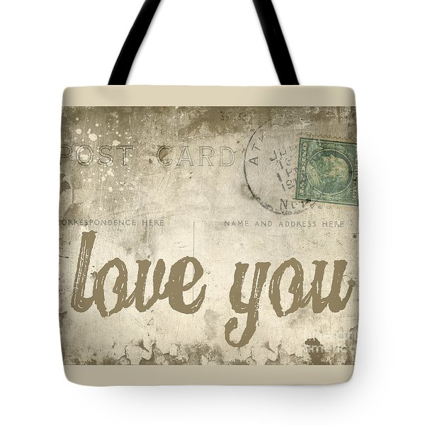 Vintage Love Letters Tote Bag by Edward Fielding